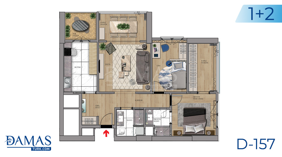 Damas Project D-157 in Istanbul - Floor plan picture 04