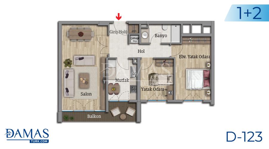 مجمع مجموعة داماس 123 في اسطنبول - صورة مخطط 04