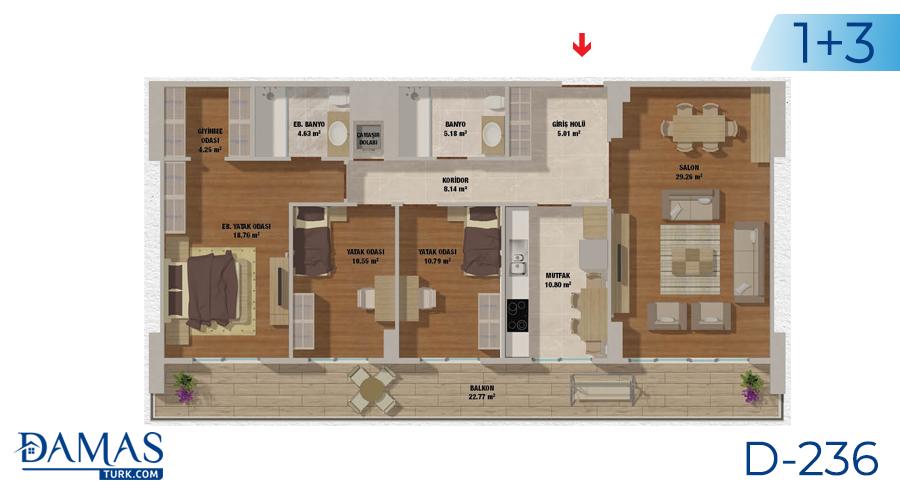 مجمع مجموعة داماس 236 في اسطنبول - صورة مخطط 04