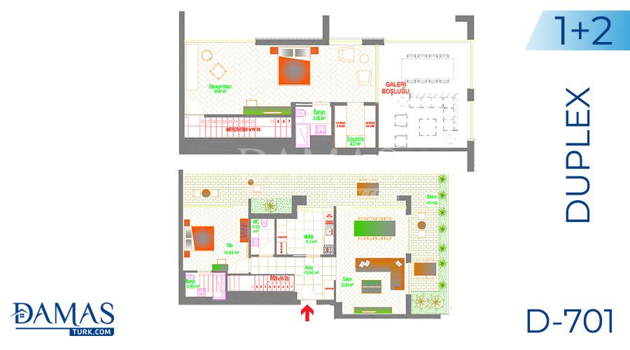 Damas Project D-701 in Ankara - Floor plan picture 04