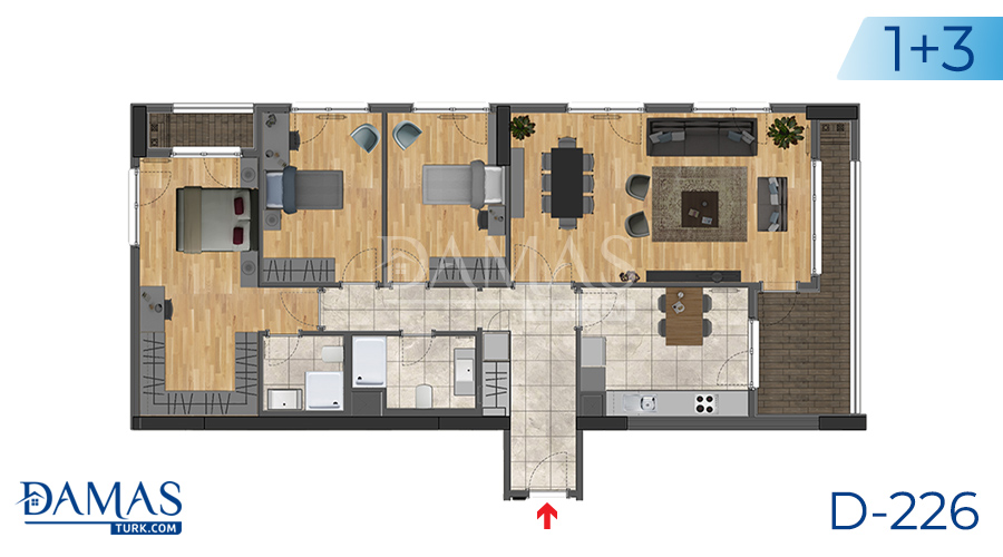 Damas Project D-226 in Istanbul -Floor plan picture  04