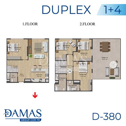 مجمع داماس 380 في اسطنبول - صورة مخطط 04