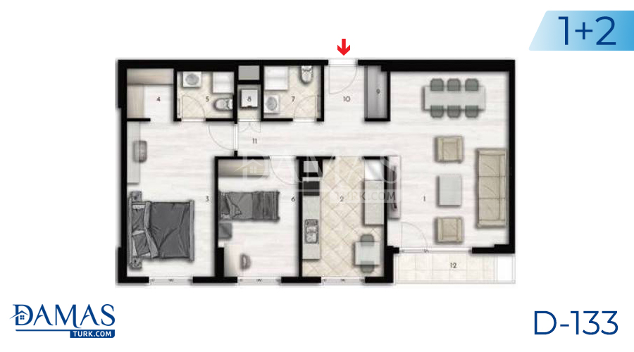 Damas Project D-133 in Istanbul - Floor plan picture 04