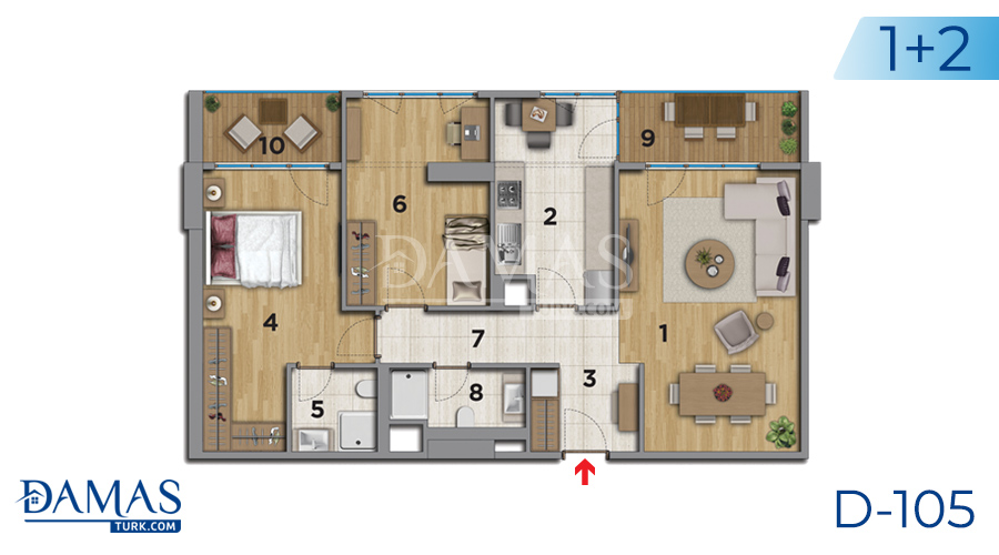 Damas Project D-105 in Istanbul - Floor plan picture 04