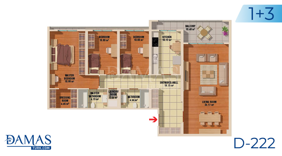 Damas Project D-222 in Istanbul - Floor plan picture  04