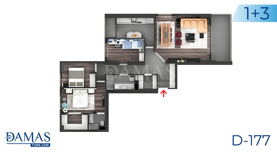 Damas Project D-177 in Istanbul - Floor plan picture  04