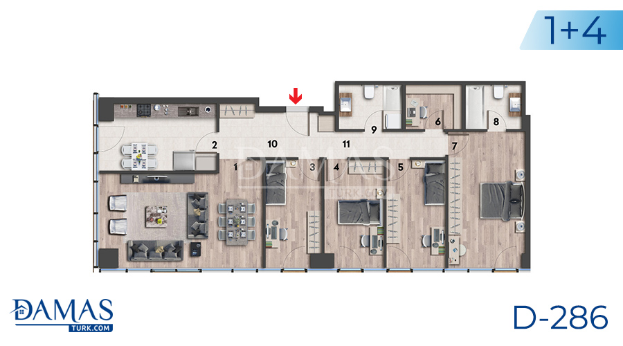 Damas Project D-286 in Istanbul - Flooe plan picture 04