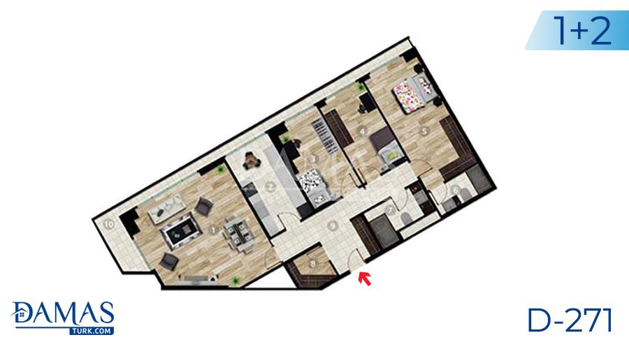 مجمع داماس 271 في اسطنبول - صورة مخطط 04