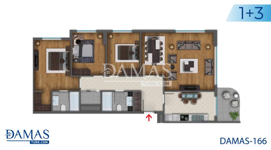 مجمع مجموعة داماس 166 في اسطنبول - صورة مخطط 05
