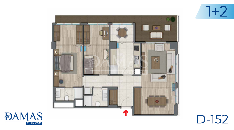 Damas Project D-152 in Istanbul - Floor plan picture 05