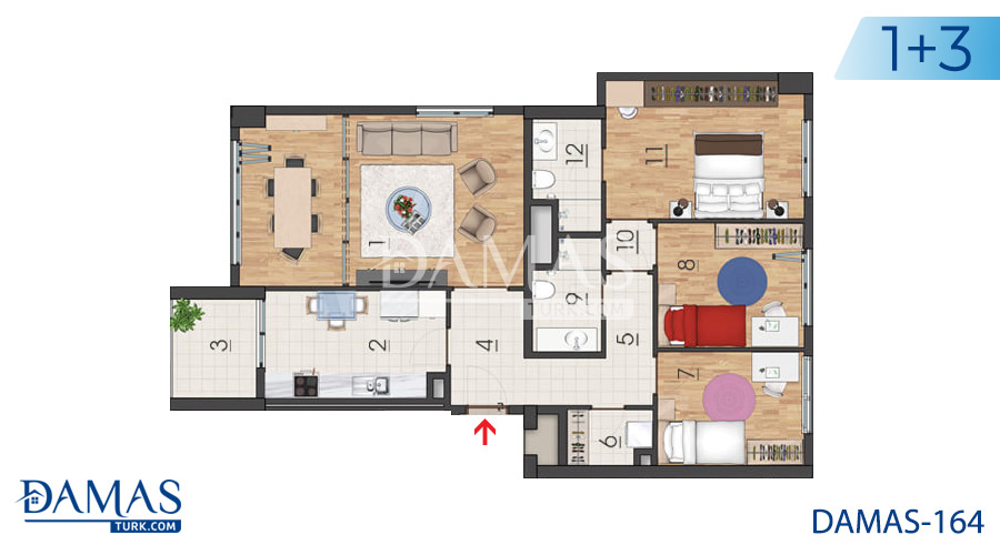 Damas Project D-164 in Istanbul - Floor plan picture 05