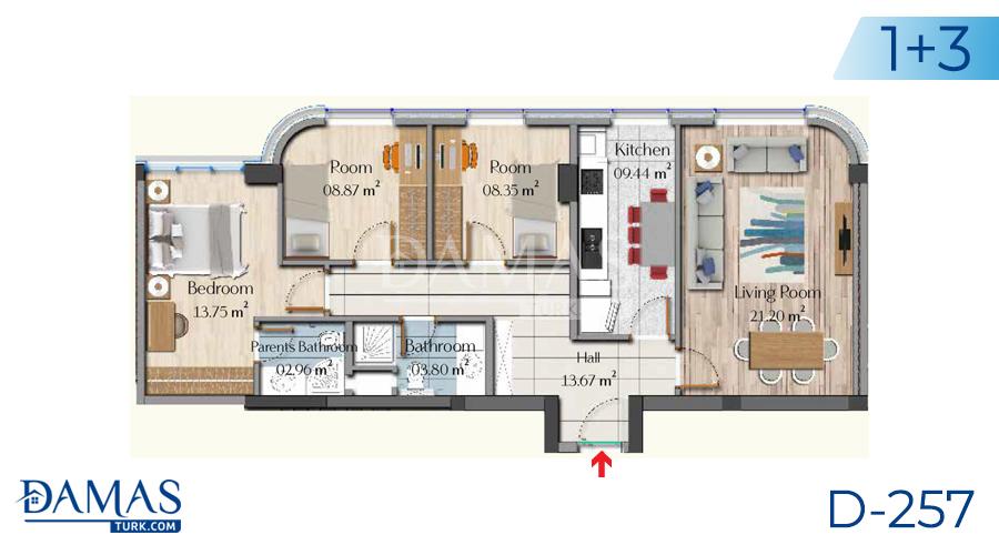 مجمع مجموعة داماس 257 في اسطنبول - صورة مخطط 05