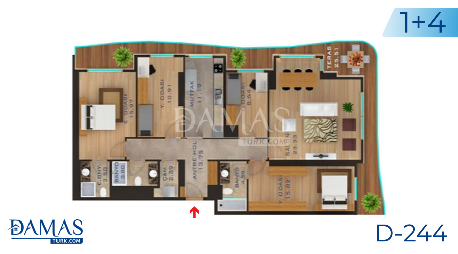 Damas Project D-244 in Istanbul - Floor plan picture  05