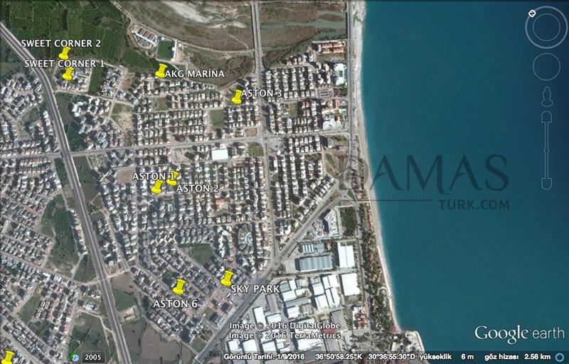 مجمع مجموعة داماس 601 في انطاليا - صورة المخطط 05