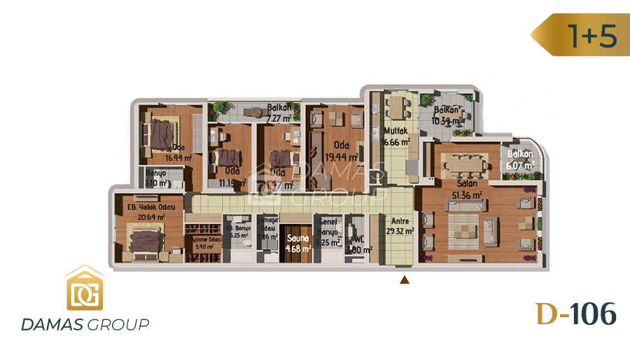 مجمع داماس 106 في اسطنبول  - صورة مخطط 05