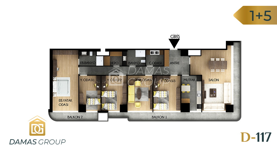 Damas Project D-117 in Istanbul - Floor Plan 04