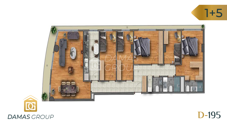 مجمع داماس 195 في اسطنبول  - صورة مخطط 05