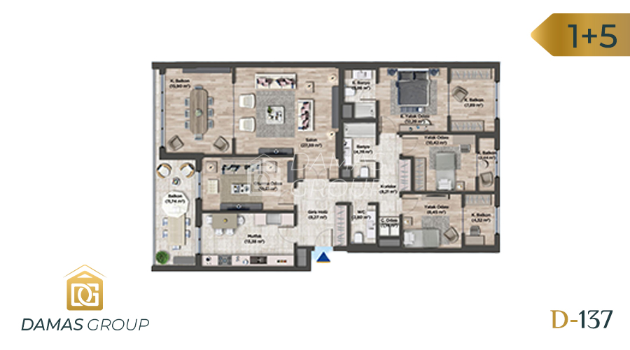 Damas Project D-137 in Istanbul - Floor Plan 06
