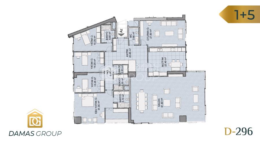 Damas Project D-296 in Istanbul - Floor Plan 04