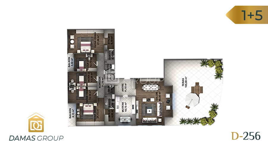 Damas Project D-256 in Istanbul - Floor Plan 06