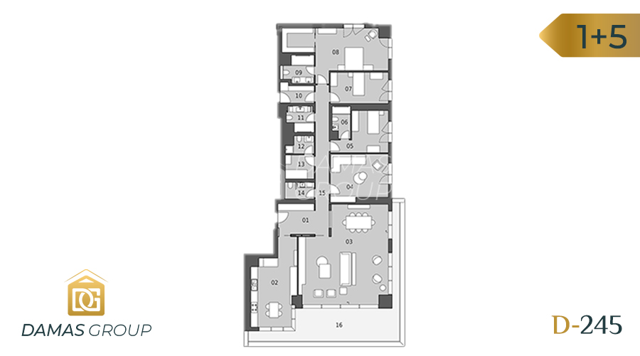 Damas Project D-245 in Istanbul - Floor Plan 05