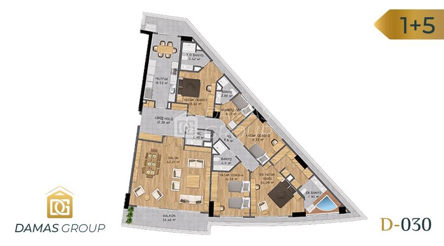 مجمع داماس 030 في اسطنبول  - صورة مخطط 07