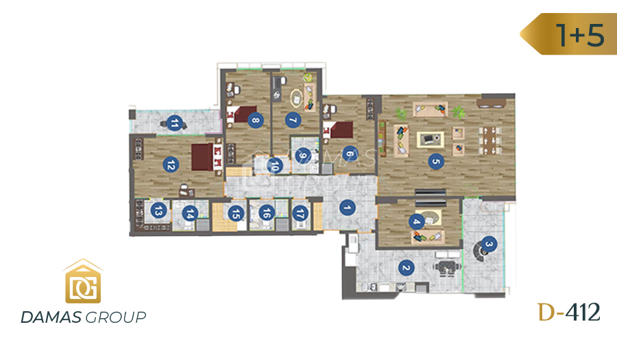 Damas Project D-412 in Trabzon - floor plan 04