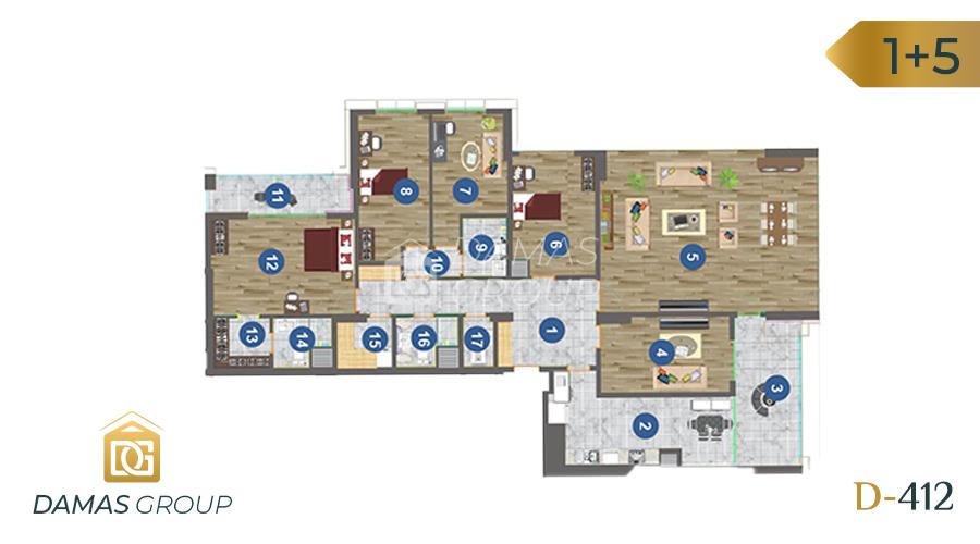 مجمع داماس 412 في طرابزون  - صورة مخطط 04