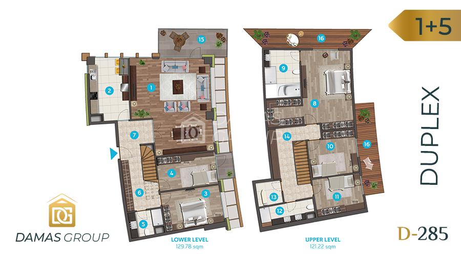 مجمع داماس 285 في اسطنبول  - صورة مخطط 06