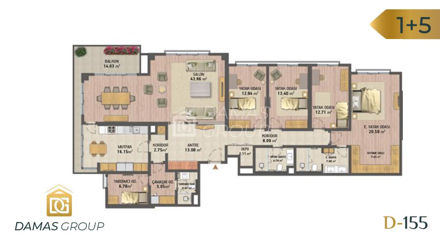 Damas Project D-155 in Istanbul - Floor Plan 06
