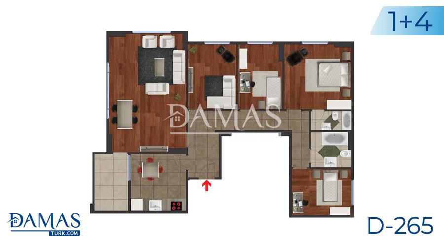 مجمع مجموعة داماس 265 في اسطنبول - صورة مخطط 05