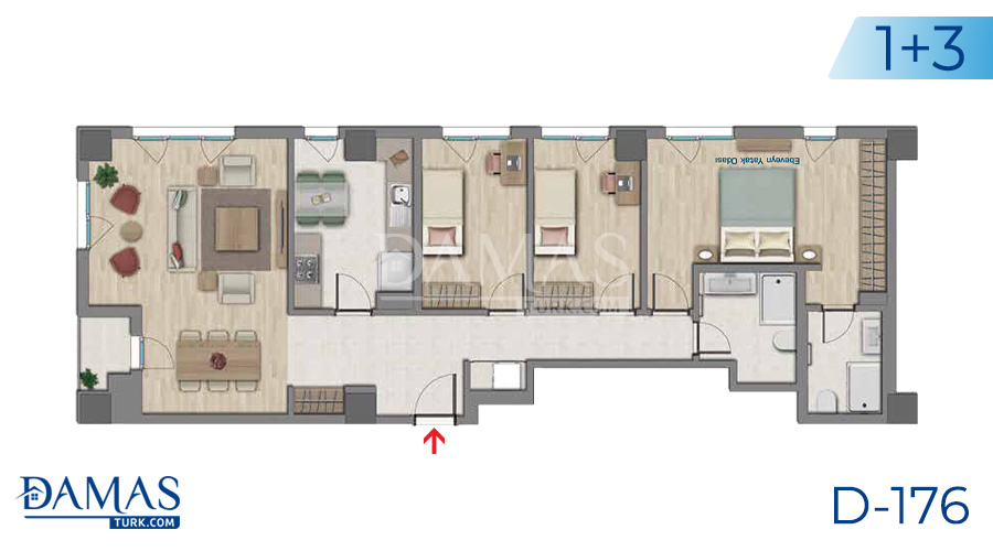 Damas Project D-176 in Istanbul - Floor plan picture  05