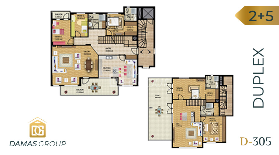 Damas Project D-305 in Bursa - Floor Plan 03