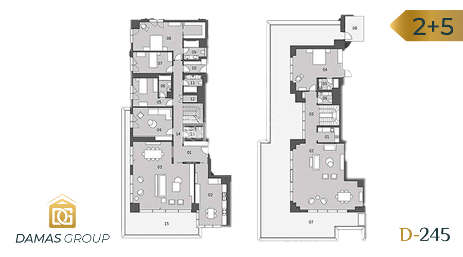 Damas Project D-245 in Istanbul - Floor Plan 06