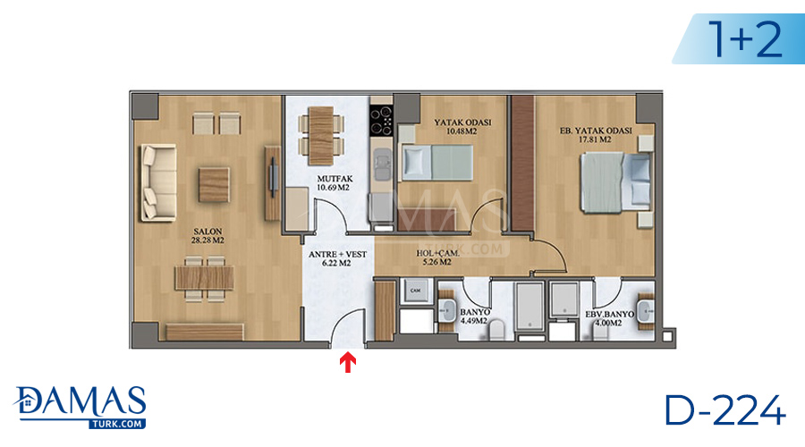 Damas Project D-224 in Istanbul - Floor plan picture  05