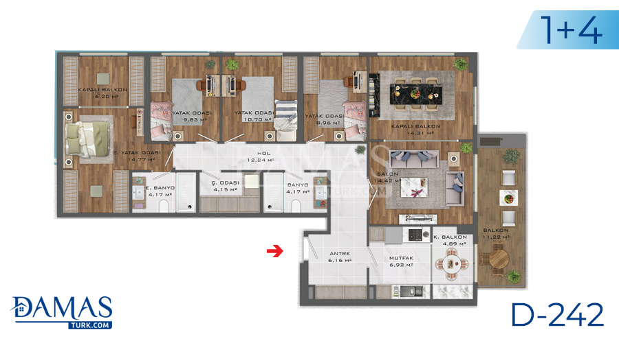 Damas Project D-242 in Istanbul - Floor plan picture  05