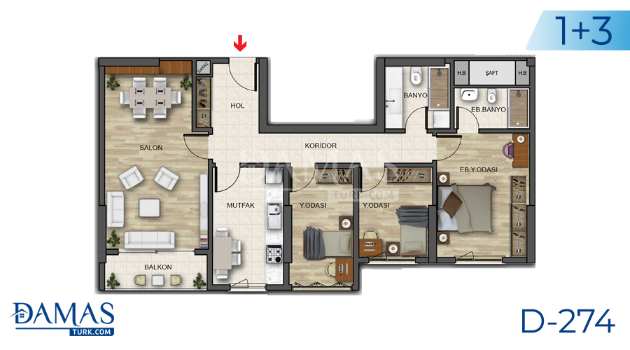 Damas Project D-274 in Istanbul - Floor plan picture 05