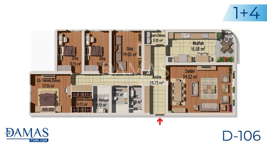 مجمع مجموعة داماس 106 في اسطنبول - صورة مخطط 05