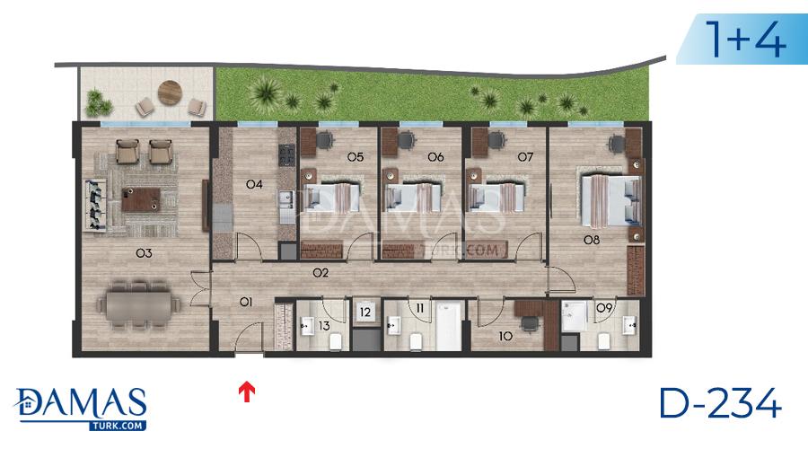 مجمع مجموعة داماس 234 في اسطنبول - صورة مخطط 05