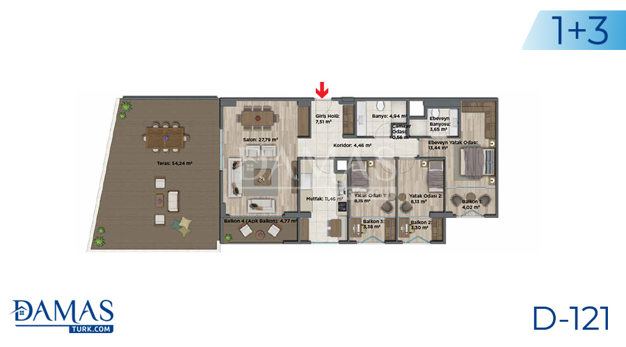 Damas Project D-121 in Istanbul - Floor plan picture 05