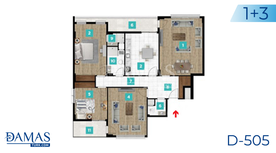 مجمع مجموعة داماس 505 في كوجالي - صورة مخطط 05