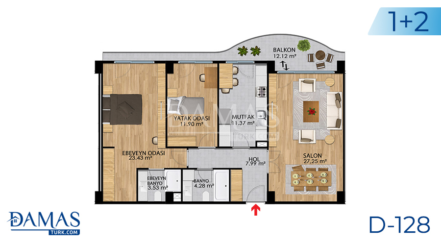 Damas Project D-128 in Istanbul - Floor plan picture 05