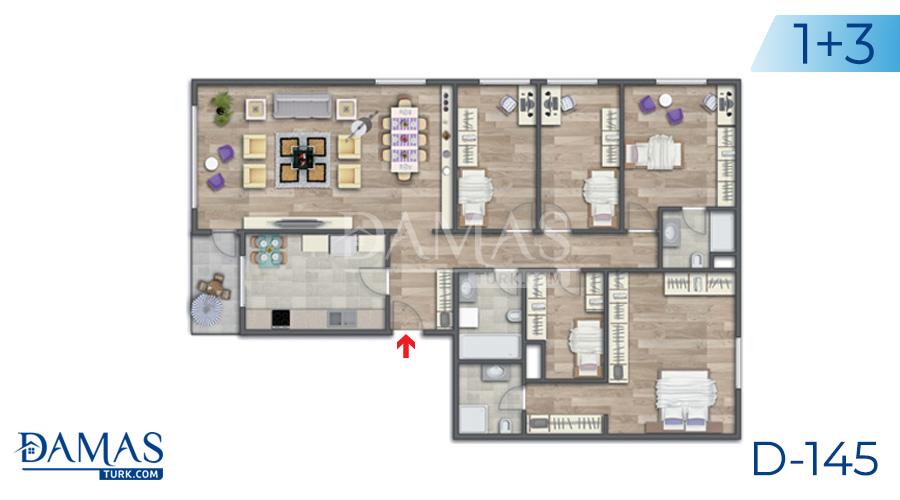 Damas Project D-145 in Istanbul - Floor plan picture 05
