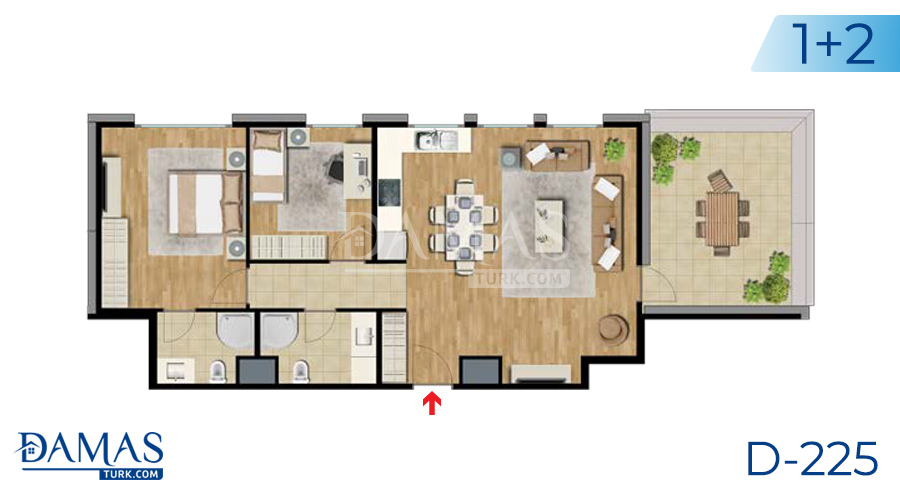 Damas Project D-225 in Istanbul - Floor plan picture  05