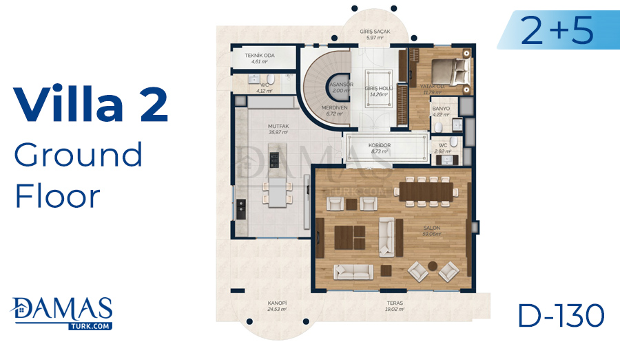 Damas Project D-130 in Istanbul - Floor plan picture 05