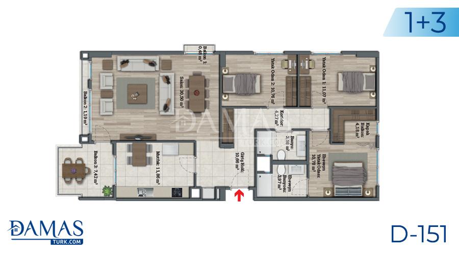 مجمع مجموعة داماس 151 في اسطنبول - صورة مخطط 05