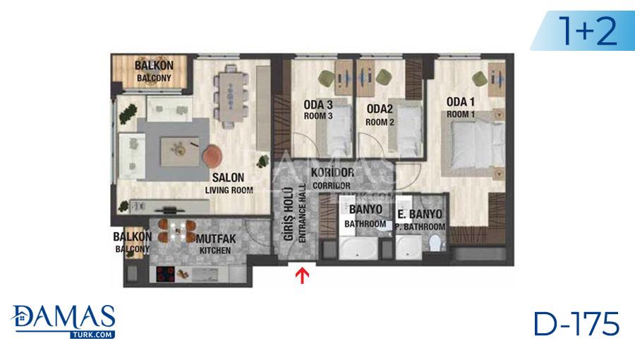 مجمع مجموعة داماس 175 في اسطنبول - صورة مخطط 05
