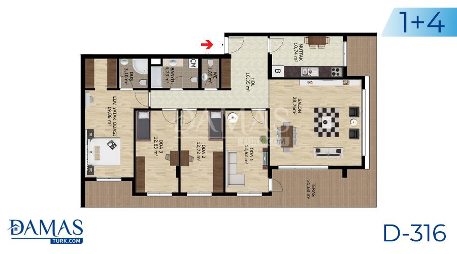 Damas Project D-316 in Bursa - Floor plan picture  05