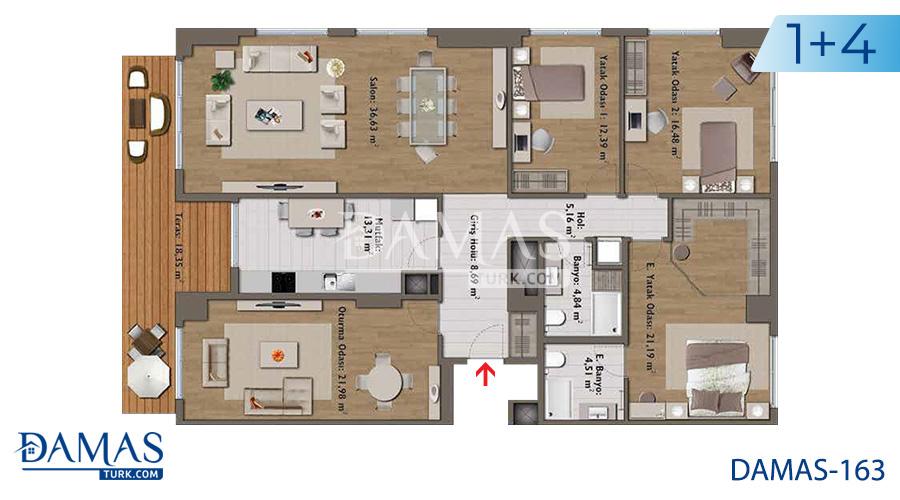 مجمع مجموعة داماس 163 في اسطنبول - صورة مخطط 05