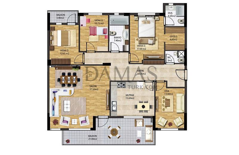 مجمع مجموعة داماس 205 في بورصة - صورة المخطط 05